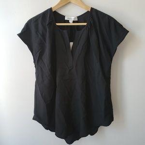 Amour Vert Tops - Amour Vert Katina Black Silk Blouse Small